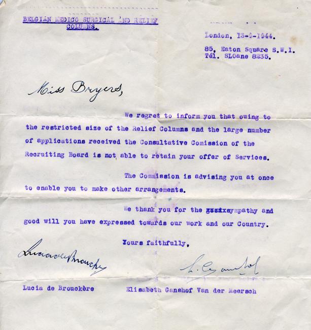 Belgian relief letter, 09-44