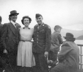 On Loch Lomond steamer,Sept.1944.png Daddy, Len and Ed