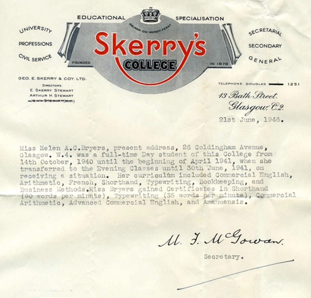 Skerry's College letter png